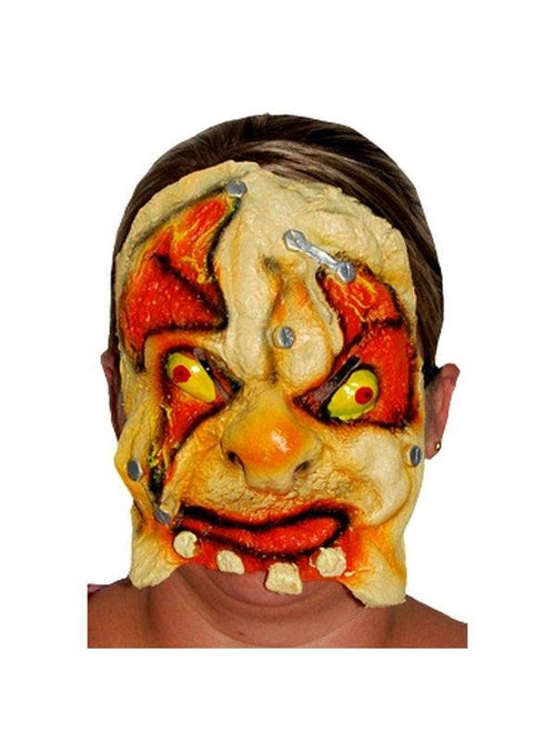 **Horror Tooth Chinless Mask Flesh Eat**-Masks - Halloween-Jokers Costume Hire and Sales Mega Store