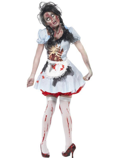 Horror Zombie Countrygirl Costume-Costumes - Women-Jokers Costume Hire and Sales Mega Store