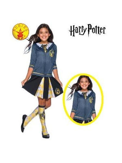 HUFFLEPUFF COSTUME TOP - SIZE M-Costumes - Girls-Jokers Costume Hire and Sales Mega Store