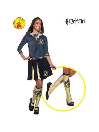 HUFFLEPUFF SOCKS, CHILD-Costume Accessories-Jokers Costume Hire and Sales Mega Store