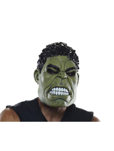 Hulk 3/4 Adult Mask-Masks - Latex-Jokers Costume Hire and Sales Mega Store