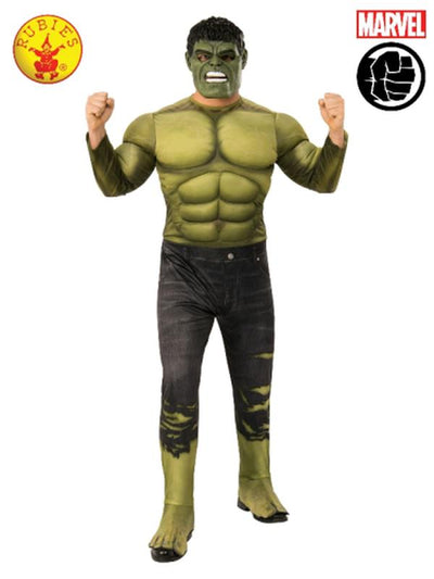 HULK DELUXE COSTUME, ADULT.-Costumes - Mens-Jokers Costume Hire and Sales Mega Store