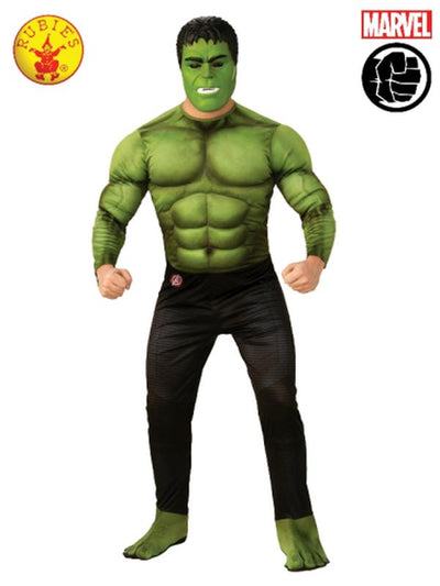 HULK DELUXE COSTUME, ADULT-Costumes - Mens-Jokers Costume Hire and Sales Mega Store