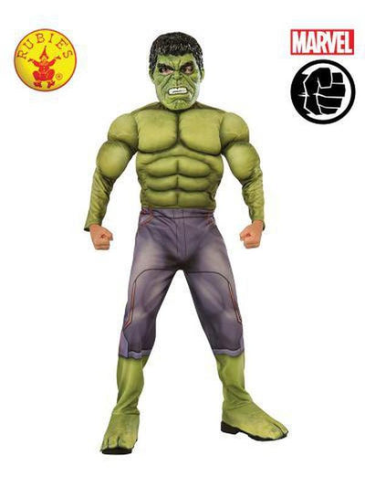 HULK DELUXE COSTUME - SIZE S-Costumes - Boys-Jokers Costume Hire and Sales Mega Store