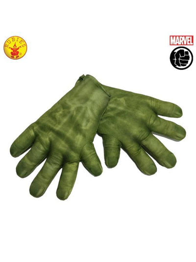 HULK GLOVES - CHILD-Armwear-Jokers Costume Hire and Sales Mega Store