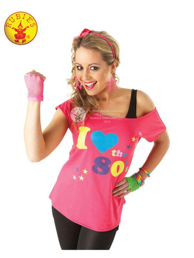I LOVE THE 80S T-SHIRT - SIZE L-Costumes - Women-Jokers Costume Hire and Sales Mega Store