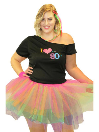 I Love the 80's T-Shirt.-Costumes - Women-Jokers Costume Hire and Sales Mega Store