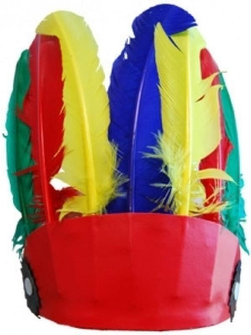 **Indian Headdress - Multicolour Small**-Hats and Headwear-Jokers Costume Hire and Sales Mega Store