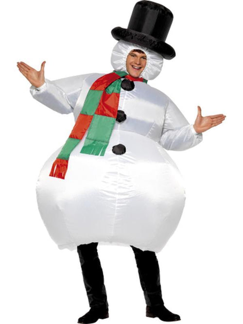 Inflatable Snowman Costume-Costumes - Mens-Jokers Costume Hire and Sales Mega Store