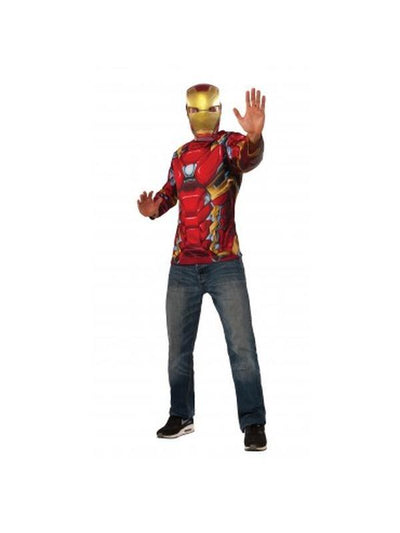 Iron Man Adult Costume Top - Size Xl-Costumes - Mens-Jokers Costume Hire and Sales Mega Store