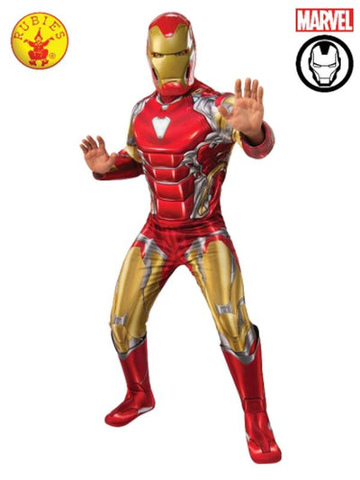 IRON MAN DELUXE COSTUME, ADULT.-Costumes - Mens-Jokers Costume Hire and Sales Mega Store