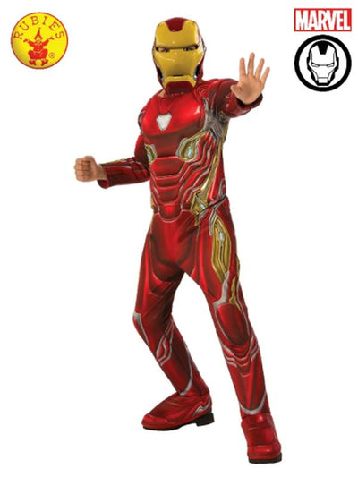IRON MAN DELUXE COSTUME, CHILD-Costumes - Boys-Jokers Costume Mega Store