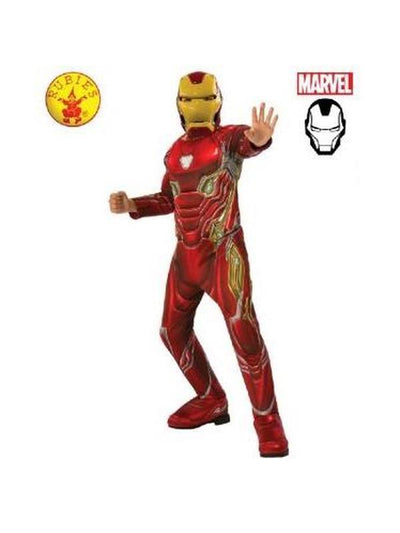 IRON MAN DELUXE INFINITY WAR COSTUME - SIZE 3-5-Costumes - Boys-Jokers Costume Hire and Sales Mega Store
