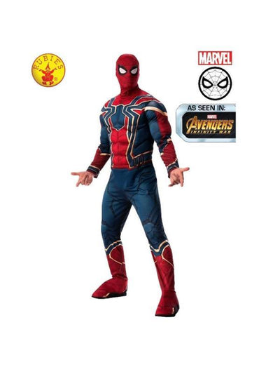 IRON-SPIDER DELUXE COSTUME, ADULT-Costumes - Mens-Jokers Costume Hire and Sales Mega Store