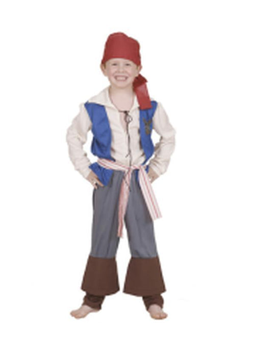 Jack Sparrow Pirate Of The Caribbean - Size 6-8-Costumes - Boys-Jokers Costume Hire and Sales Mega Store