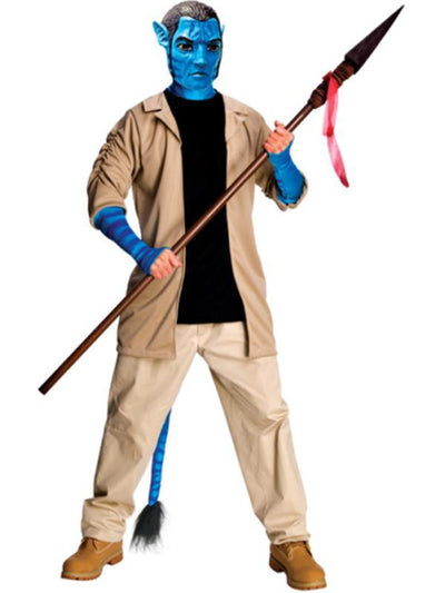 Jake Sully Deluxe Adult Costume - Size Xl-Costumes - Mens-Jokers Costume Hire and Sales Mega Store