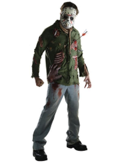 Jason Deluxe Costume - Size L-Costumes - Mens-Jokers Costume Hire and Sales Mega Store