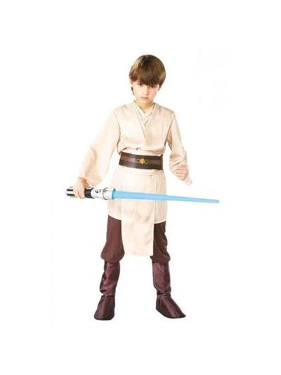 JEDI KNIGHT DELUXE COSTUME, Child - SIZE L-Costumes - Boys-Jokers Costume Hire and Sales Mega Store
