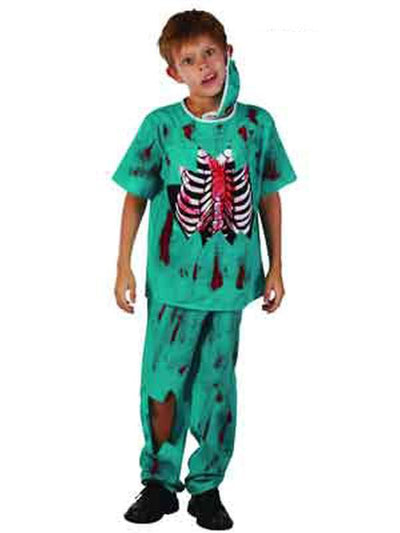 **Jnr Zombie Doctor - Child - Medium**-Costumes - Boys-Jokers Costume Hire and Sales Mega Store