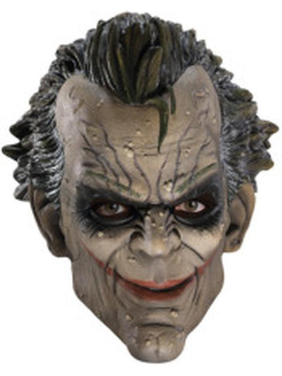 Joker 3/4 Vinyl Mask-Masks - Latex-Jokers Costume Hire and Sales Mega Store