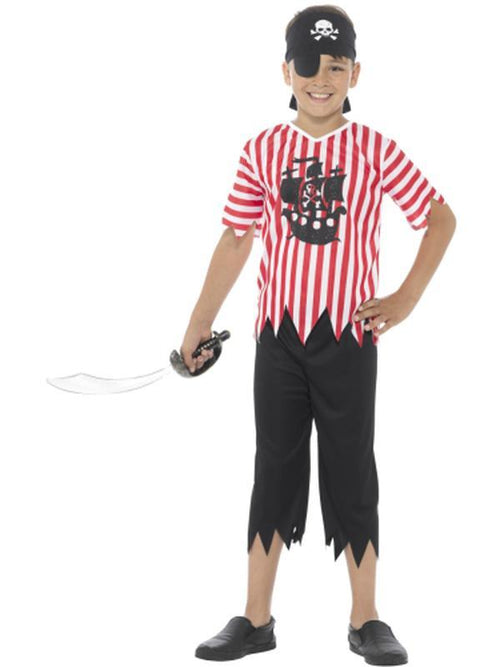 Jolly Pirate Boy Costume-Costumes - Boys-Jokers Costume Hire and Sales Mega Store