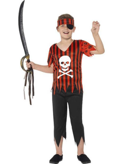 Jolly Roger Pirate Costume-Costumes - Boys-Jokers Costume Hire and Sales Mega Store