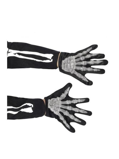Kids Skeleton Gloves-Armwear-Jokers Costume Hire and Sales Mega Store