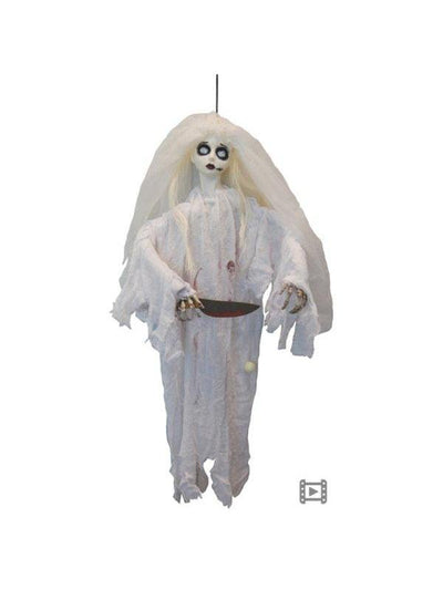 Killer Zombie Bride w/Moving Arm & Snd-Halloween Props and Decorations-Jokers Costume Hire and Sales Mega Store