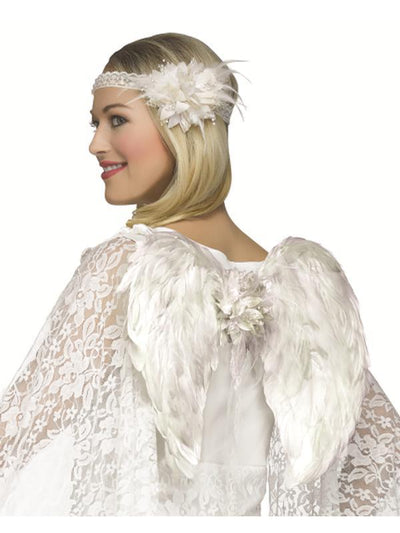 Deluxe Wing Set - Angel-Costume Accessories-Jokers Costume Hire and Sales Mega Store