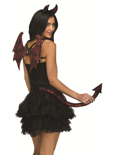 Lace Character Instant Kit - Devil-Costume Accessories-Jokers Costume Mega Store