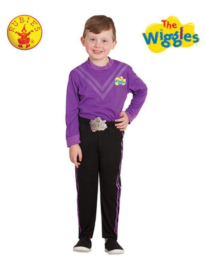LACHY WIGGLE DELUXE COSTUME (PURPLE)- SIZE 3-5-Costumes - Boys-Jokers Costume Hire and Sales Mega Store