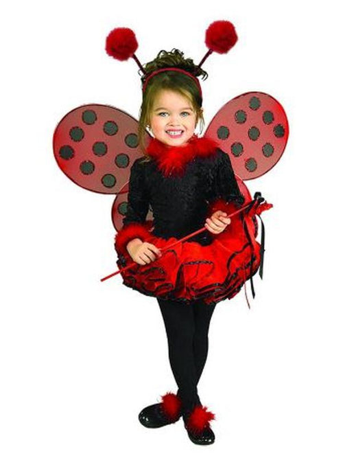 Lady Bug Costume - Size S-Costumes - Girls-Jokers Costume Hire and Sales Mega Store