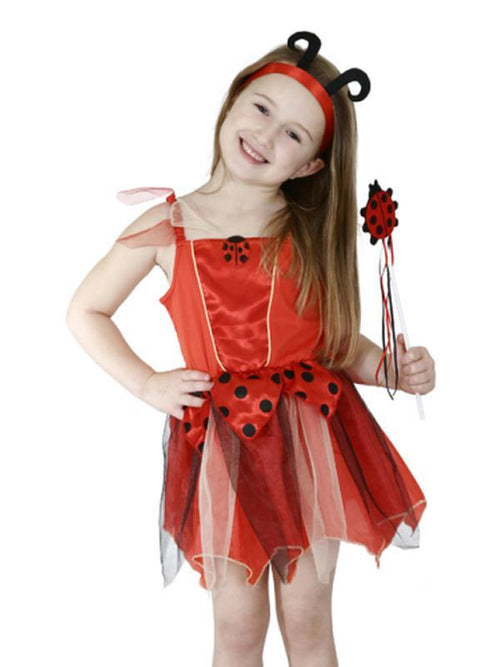 Lady Bug -Size 3-5-Costumes - Girls-Jokers Costume Hire and Sales Mega Store