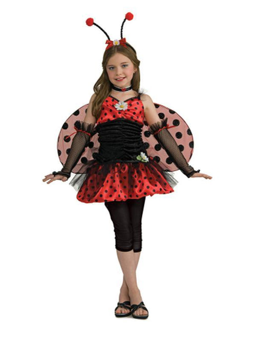 Lady Bug Tween - Size S-Costumes - Girls-Jokers Costume Hire and Sales Mega Store