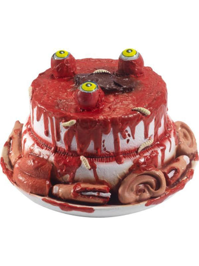 Latex Gory Gourmet Zombie Cake Prop-Halloween Props and Decorations-Jokers Costume Hire and Sales Mega Store