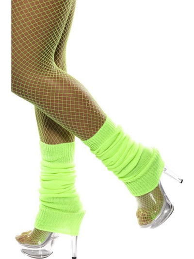 Legwarmers - Green Neon-Leg Wear-Jokers Costume Hire and Sales Mega Store