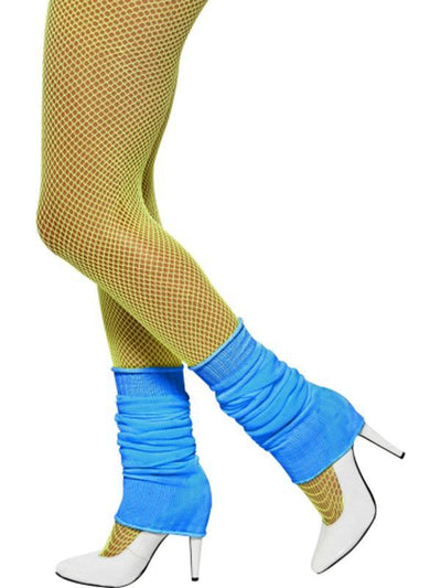 Legwarmers - Neon Blue-Leg Wear-Jokers Costume Hire and Sales Mega Store