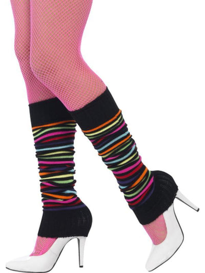 Legwarmers - Neon with Black Stripe-Leg Wear-Jokers Costume Hire and Sales Mega Store