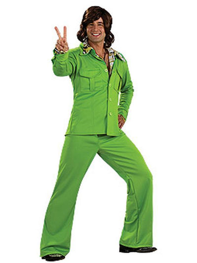 Leisure Suit Green - Size Std-Jokers Costume Mega Store