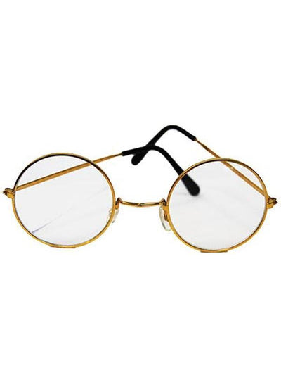 Lennon/Santa Round Glasses - Clear-Eyewear-Jokers Costume Hire and Sales Mega Store