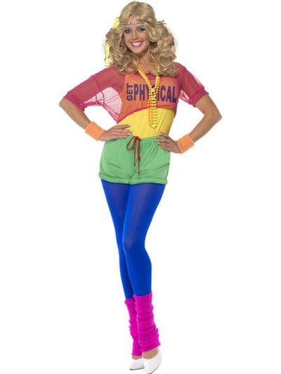 Let's Get Physical Girl Costume-Costumes - Women-Jokers Costume Hire and Sales Mega Store