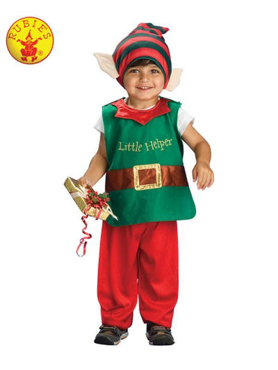 LIL' ELF COSTUME - SIZE TODDLER-Costumes - Unisex-Jokers Costume Hire and Sales Mega Store
