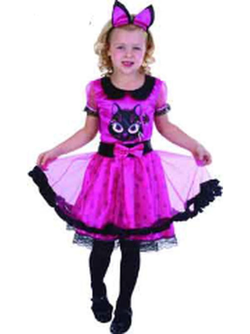 Lil Miss Kitty - Child - Medium-Costumes - Girls-Jokers Costume Hire and Sales Mega Store