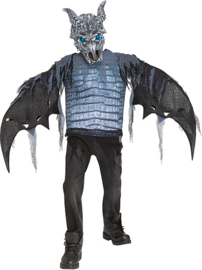 Lite-Up Ice Dragon (SFX)-Costumes - Boys-Jokers Costume Hire and Sales Mega Store