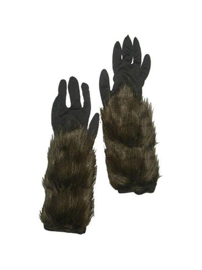 Long Hairy Werewolf Gloves - Adult-Armwear-Jokers Costume Hire and Sales Mega Store