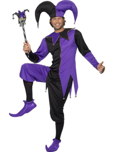 Medieval Jester Costume-Costumes - Mens-Jokers Costume Hire and Sales Mega Store