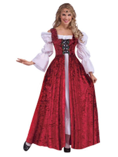 Medieval Lace Up Gown - Size Std-Costumes - Women-Jokers Costume Hire and Sales Mega Store
