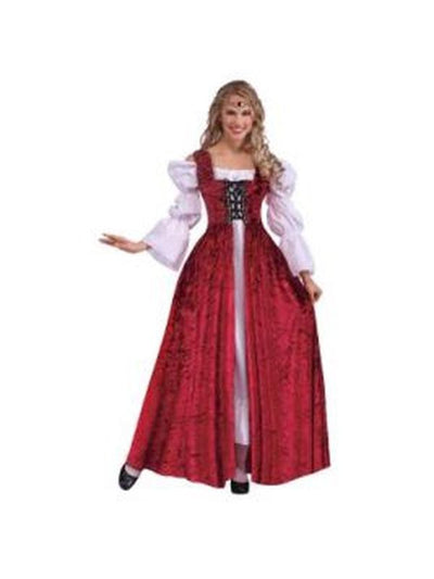 Medieval Lady Lace Up Gown - Size Std-Jokers Costume Mega Store