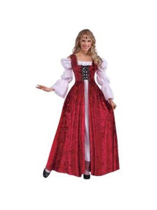 Medieval Lady Lace Up Gown - Size Std-Costumes - Women-Jokers Costume Hire and Sales Mega Store