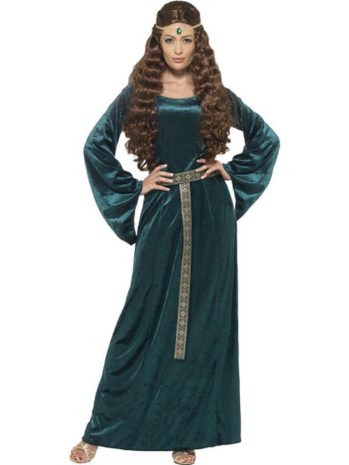 Medieval Maid Costume - Green-Costumes - Women-Jokers Costume Hire and Sales Mega Store